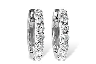 B046-48380: EARRINGS 1.00 CT TW