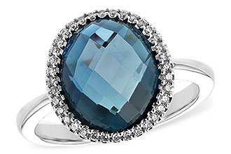 B234-65653: LDS RG 5.31 LONDON BLUE TOPAZ 5.45 TGW