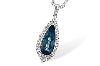 C234-66562: NECK 2.40 LONDON BLUE TOPAZ 2.65 TGW