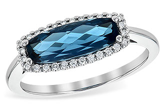 C235-59353: LDS RG 1.79 LONDON BLUE TOPAZ 1.90 TGW