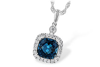 D234-64735: NECK 1.63 LONDON BLUE TOPAZ 1.80 TGW