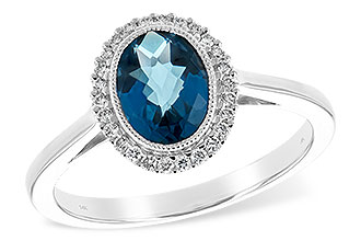 E234-64753: LDS RG 1.27 LONDON BLUE TOPAZ 1.42 TGW