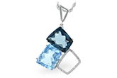 F233-79307: NECK 10.60 BLUE TOPAZ 10.73 TGW