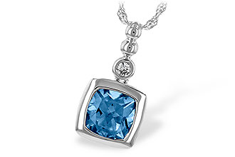 F234-68407: NECK 1.45 BLUE TOPAZ 1.49 TGW