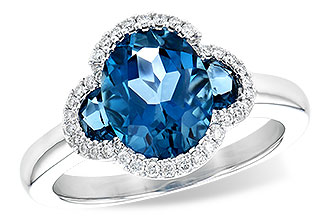 H235-60243: LDS RG 3.04 TW LONDON BLUE TOPAZ 3.20 TGW
