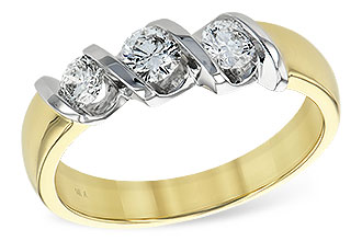 L138-33834: LDS WED RING .20 BR .50 TW