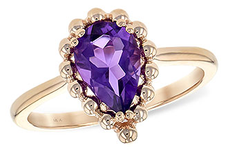 L234-67525: LDS RING 1.06 CT AMETHYST