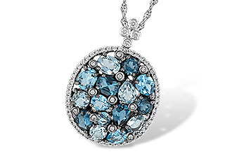 M232-85716: NECK 3.12 BLUE TOPAZ 3.41 TGW