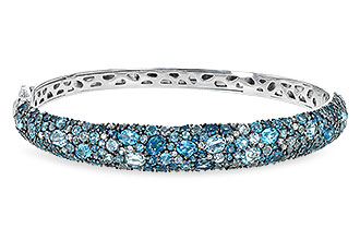 M235-57516: BANGLE 7.60 BLUE TOPAZ 7.85 TGW