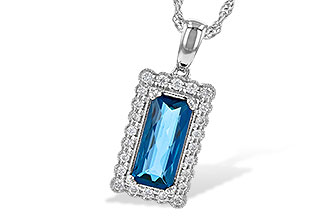 M235-62016: NECK 1.55 LONDON BLUE TOPAZ 1.70 TGW